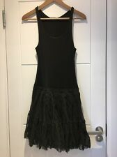 $985 Theyskens Theory Black Mini Dress Ballet Tulle Skirt Dela Flana P Petite XS