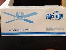 "42"" Ceiling Fan FORCE-FLOW 110 Volt 3 speed reversing switch 4 blades NEW"