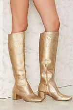 Matisse Truth Be Gold Knee-High Leather Boots size 9 new  GOLD