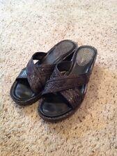 Womens Cole Haan NikeAir Sandal Shoe D32385 Leather Snakeskin Sz 7 B Med Wedge