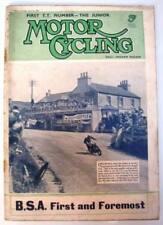 October Weekly Motor Cycling Magazines