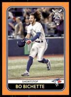 2020 Big League Base Orange #108 Bo Bichette RC - Toronto Blue Jays