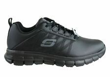 Skechers Womens Sure Track Erath Leather Slip Resistant Work Shoes