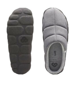 CLOUDSTEPPERS by Clarks Mens Jersey Slippers Step Rest Clog Gray