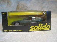SOLIDO n1051 ANCIEN SUPERBE PORSCHE 924 turbo NEUF EN BOITE 1/43