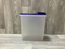 New listing Tupperware Cereal Keeper Large #1588-7 With Dark Blue Flip Top Lid #1589