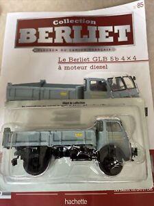 1/43 Collection Berliet N°85 GLB 5b 4x4 BENNE MOTEUR DIESEL CAMION HACHETTE