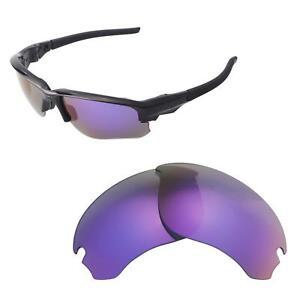 Walleva Purple Polarized Replacement Lenses For Oakley Flak Draft Sunglasses
