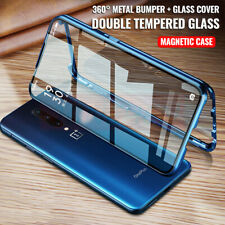 For OnePlus Nord 8 7T Pro 360° Magnetic Adsorption Double Sided Glass Cover Case