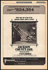 JACKSON COUNTY JAIL__Original 1976 Cannes Trade Print AD/ poster__YVETTE MIMIEUX