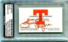 SIGNED BUSINESS CARD, JOHNNY MAJORS FORMER TENNESSEE FOOTBALL COACH, NCAA