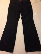 Banana Republic Trouser Leg Black Jeans women's size 14 (waist 37 inseam 32.5)