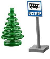 Lego City Diversión en el parque Bus Stop & Tree Estación de Tren Paisaje Idea de 60134