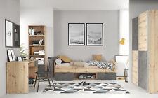 SUPER NEUHEIT Lupo Jugendzimmer 7 teilig in Artisan Oak und Dark Grey Komplett