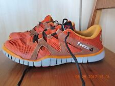 Reebok 023501 414 Mens Orange Leather /Textile Upper Sneaker Shoe size 9.5