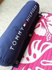 VTG Tommy Hilfiger Beach Roll Up Mat Detachable Spell Out Flag Pillow 68 X 24
