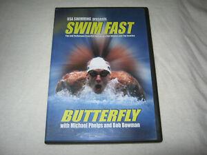 USA Swimming Presents: Swim Fast - Butterfly - Michael Phelps - VGC - DVD - R1