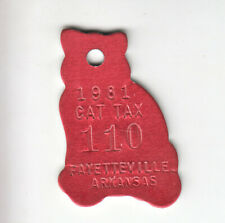 1981 Fayetteville Arkansas Cat Tax License Tag #110