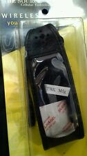 Black Leather belt clip Motorola T2297/2260 cell phone case New   The Source