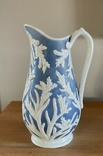 More details for tall & fine  beech & hancock relief moulded coral & seaweed jug reg july 5 1861