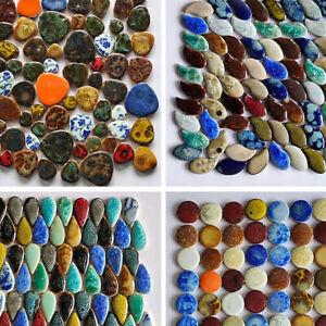 150g Ceramic Tiles Marble Pattern Mosaic Irregular Drop Shape Tile DIY Crafts