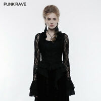 PUNK RAVE gothic black women shirt,Gorgeous top,party clothing,perforrmance top