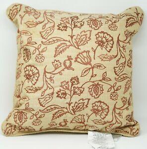 """Croscill Minka Collection Fashion Floral 16"""" Decorative Pillow -Beige Multicolor"""