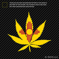 New Mexico Flag Weed Marijuana Leaf Sticker Self Adhesive 420 hemp