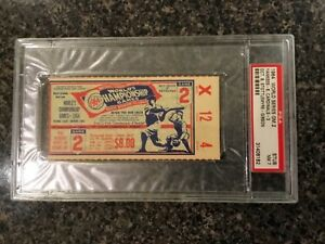 PSA 7 1964 Bob Gibson World Series Ticket Yankees St Louis Cardinals