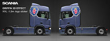 Scania Griffin Large sticker (DECAL XXL 1,5m height) 3D effect 1-PAIR