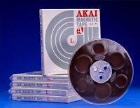 NEW Akai AT-7L 7 Inch Audio Tape Reel with Box & Bag 4 Track