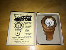 MINIATURE 1:12 SCHOOL ROOM CLOCK SHACKMAN HARDWOOD NO MOVING PARTS NOS