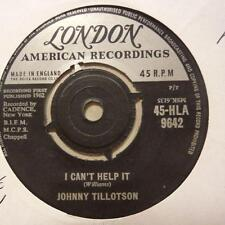 "Johnny Tillotson(7"" Vinyl)I Can't Help It / I'm So Lonesome-London-HLA -Ex/Ex"