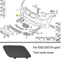 Front Bumper Tow Hook Eye Cover Cap For BMW E92 E93 M Sport 2006-2010 328i 335i