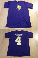 Men's Minnesota Vikings Bret Favre S Jersey T-Shirt Tee (Purple) Reebok Jersey