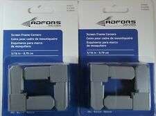 """2 New Packages Of Adfors 5/16"""" Screen Frame Corners 8 Pcs. Free Ship! Gray"""
