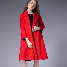 Plus size womens loose major suit trench coat fashion Elegant coats oversize new