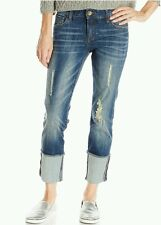 NWT KUT from the Kloth Cameron Boyfriend Jeans in Audacity 0 $89 Straight Cuffed