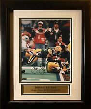 Dorsey Levens Signed / Framed PACKERS 8 x 10 w/Mounted Memories Hologram