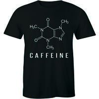 Coffee Molecule Funny T SHIRT Caffeine Geek Nerd Science Chemistry Mens