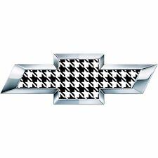 2 Silverado Houndstooth Universal Chevy Bowtie Vinyl Sheets Emblem Overlay
