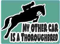 Horsebox Decal My Other Car is a Thoroughbred Sticker Window Bumper Car Sticker