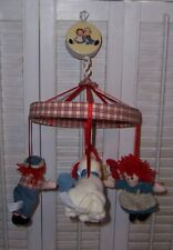 Raggedy Ann and Andy Musical Mobile plays Brahms Lullaby Pole is missing