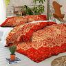 Red Mandala Duvet Doona Quilt Cover Set Indian Bedding Set Queen King Size Bed