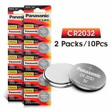 10 pcs PANASONIC CR2032 Piles Bouton BR2032 DL2032 ECR2032 Pile bouton Au Lithiu