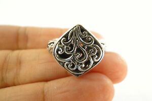 No Stone Ornate Balinese Statement 925 Sterling Silver Ring Size 6 7 8 9