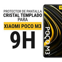 Sentete® Xiaomi POCO M3 Protector de Pantalla de Cristal Templado PREMIUM
