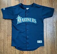 Majestic Seattle Mariners Youth Jersey Large Navy Blue  MLB