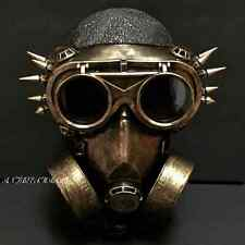 Steampunk Rivet Vintage Goggles Glasses And Burning Cosplay Respirator Mask