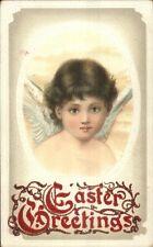 Easter - Beautiful Angel Cherub Child c1910 Card/Postcard